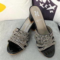 Used Leather Visage Mules 60 Heels by Gina in Dubai, UAE