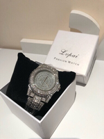 Used Silver diamond look watch Lupai  in Dubai, UAE