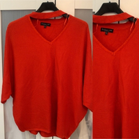 Used Red Oversized Sweater with Choker detail in Dubai, UAE