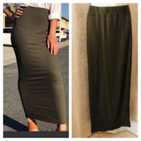 Used Long pencil skirt army green size XL in Dubai, UAE
