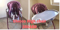 Used Chicco High Chair Polly Magic  2in 1  in Dubai, UAE