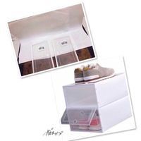 Used 2 Transparent Drawer Shoe box_♏️ in Dubai, UAE