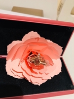 Used Fashion ring with rose gift box pink in Dubai, UAE