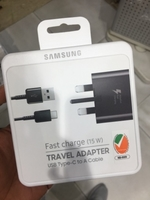 Used Samsung Fast charger Type c black  in Dubai, UAE