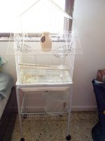 Used BIRDS LARGE CAGE  WITH STAND ON WHEELS in Dubai, UAE