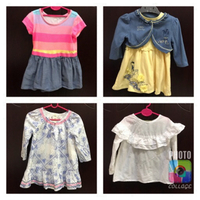 Bundle offer:4 dresses for 12-24 mths