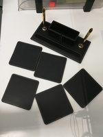 Used Leather Office pens and card holder in Dubai, UAE