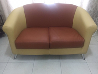Sofa leather 2 seater -  very good
