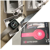 Used Touch ScreenHD SmartWatch+Stereo Headset in Dubai, UAE