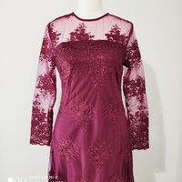 Used NEW Zalia Maroon Evening Dress Small in Dubai, UAE