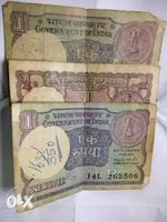 Used Old indian one rupee notes in Dubai, UAE