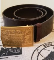 F E N D I   BROWN LEATHER BELT AUTHENTIC