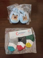 Used New born socks and booties set(organic) in Dubai, UAE