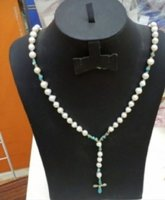 Authentic pure pearl cross NECKLACE....
