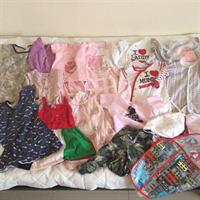 Baby Clothes 9-12mths. Used But In Good Condition. 20pcs Total. Babygrow From Mothercare, M&co. And Next Baby. Baby Rompers And Dresses From Juniors, Red Tag, H&M. 5pcs Baby Bibs, Hat And More...