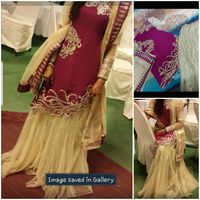 Used Heavy latest stylish sharara dress in Dubai, UAE