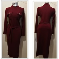 Used New fashionable long whool dress in Dubai, UAE
