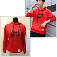 Used Beautiful red men hoodie size L in Dubai, UAE
