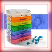 Used Medicine pills organizer portable boxes in Dubai, UAE