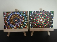 Used Acrylic painting two sets. Each 13x10 cm in Dubai, UAE