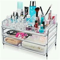 Make Up Stand Transparent# 2shelf & 1 Up