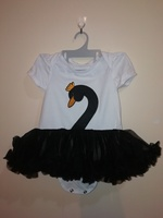 Used swan dress, shoes & bow headband (1pc) in Dubai, UAE