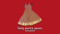Party dress with palazzo size adjustable