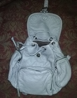 Used Backpack for ladies leather bag new. in Dubai, UAE