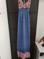 Used blue floral size 36 dress in Dubai, UAE