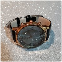 Fabulous black watch unique watch..