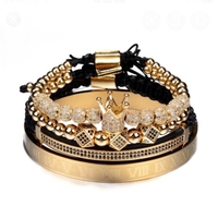 Used Men's crown charm bracelets set 4 pcs in Dubai, UAE