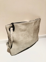 Used Clutch bag solid grey new in Dubai, UAE
