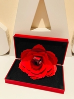 Used Red rose ring gift box in Dubai, UAE