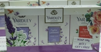 Used YARDLEY LONDON Soap 100g 3 pieces in Dubai, UAE