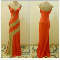 Brand new long dress golden orange