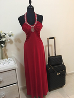 Used Red Gown (stretchable) MEDIUM in Dubai, UAE