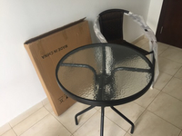 Used Furniture 3 pcs 2 chairs and 1 table  in Dubai, UAE