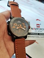 Used NAVIFORCE Leather Watch☆》 ✔Original in Dubai, UAE