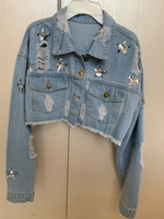 Used Jeans Jacket - trendy  in Dubai, UAE