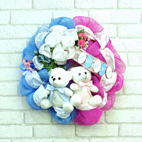 Baby twins girl&boy decorative wreath