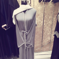 Abaya Silver With Sheila Is New Have Size 54-62 Free Delivery