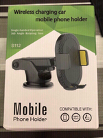 Used Wireless charging mobile holder black in Dubai, UAE