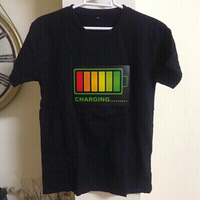 Led light flash T-shirt size m
