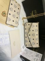 Used Mcm 3 in 1 set of sling bag white in Dubai, UAE