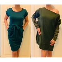 Used 2 CASUAL DRESS / SIZE SMALL - GREEN in Dubai, UAE