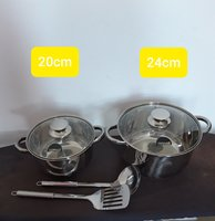 Used Stainless steel cookware set (new) in Dubai, UAE