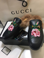 Used Gucci fur slip on  in Dubai, UAE