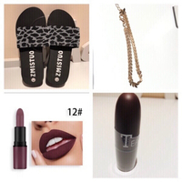 Used Slippers 40 & anklet & lipstick #12 in Dubai, UAE