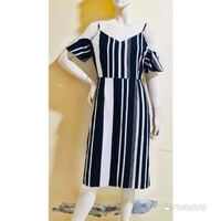 Used Stripe offshoulder dress/medium size in Dubai, UAE