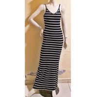 Used Long black stripe dress/small to medium in Dubai, UAE